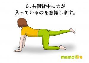 四つ這い右足
