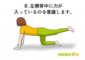 四つ這い左足