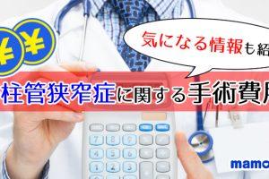 脊柱管狭窄症の手術費用